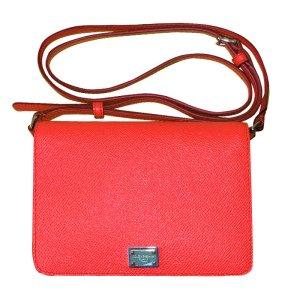 Dolce & Gabbana Crossbody-Tasche, Leder, Rot