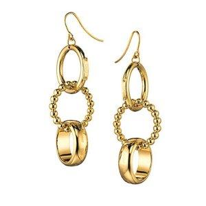 Dolce & Gabbana D&G Edelstahl Ohrringe vergoldet NP 198,-€ NEU!