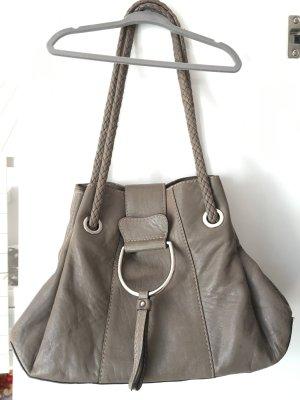 Dolce & Gabbana, D&G,  Handtasche Tasche Bag grau Leder mit Henkel  TOP in Ordnung