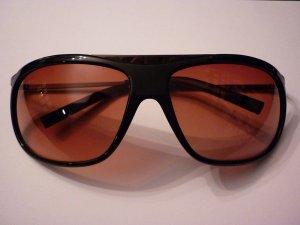 Dolce & Gabbana D&G Sonnenbrille DG434S 832 schwarz mit Metall rot braune Gläser
