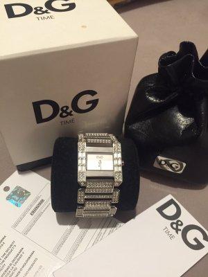 Dolce & Gabbana d&g Uhr Silber Strass Edelstahl Armband