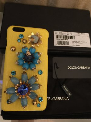 Dolce & Gabbana Mobile Phone Case yellow leather