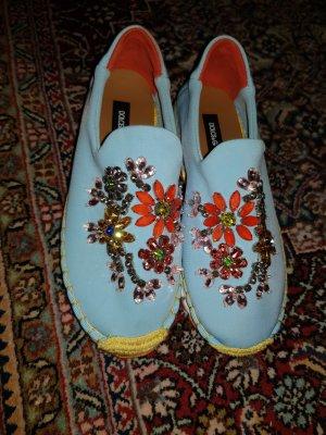 Dolce & Gabbana Sneaker con tacco azzurro