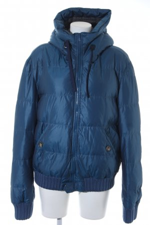 Dolce & Gabbana Down Jacket steel blue quilting pattern casual look