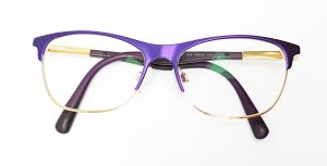 Dolce & Gabbana Glasses gold-colored-dark violet metal