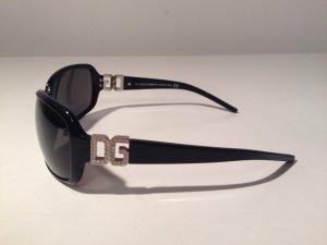Dolce & Gabbana DG D&G Luxus Designer Hollywood schwarz Strass Logo Glamour