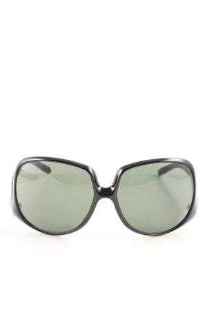 Dolce & Gabbana eckige Sonnenbrille schwarz Elegant