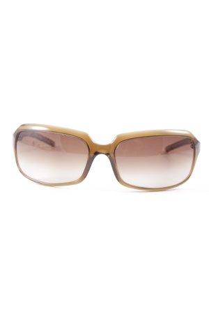 Dolce & Gabbana eckige Sonnenbrille hellbraun schlichter Stil