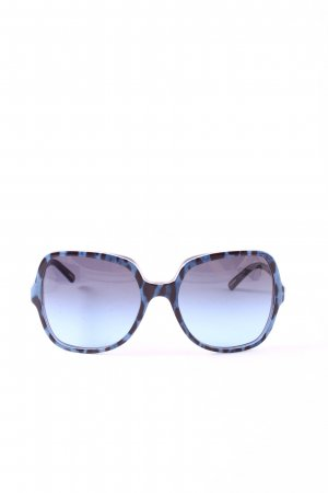 Dolce & Gabbana Angular Shaped Sunglasses black-blue leopard pattern