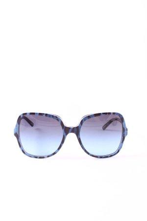Dolce & Gabbana eckige Sonnenbrille schwarz-blau Leomuster extravaganter Stil
