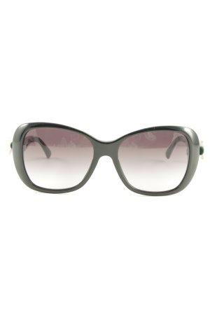 Dolce & Gabbana eckige Sonnenbrille schwarz-rosé Casual-Look