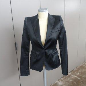Dolce&Gabbana-edler Blazer/Satinblazer-schwarz-Gr. 36-neuw.-