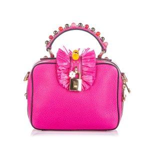 Dolce&Gabbana Embellished Leather Box Satchel