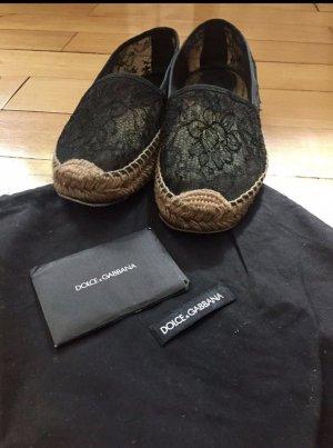Dolce & Gabbana Opbouwbare ballerina's zwart-zandig bruin