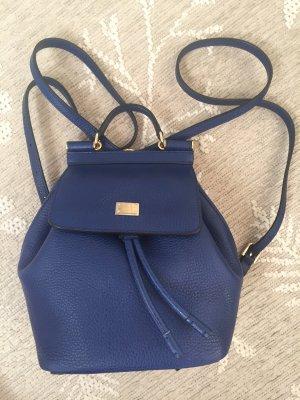 Dolce & Gabbana School Backpack dark blue-blue