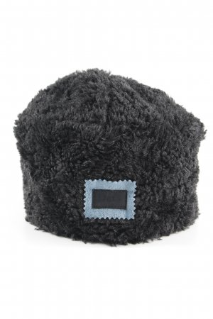 Dolce & Gabbana Fur Hat black Logo Application