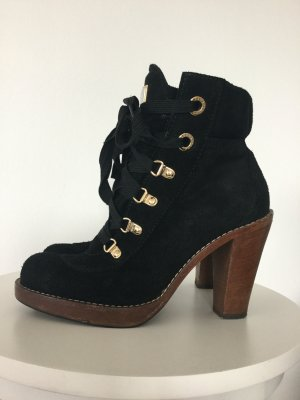 Dolce & Gabbana Lace-up Booties black-brown