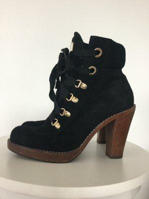 Dolce & Gabbana Bottines à lacets noir-brun