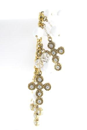 Dolce & Gabbana Goldarmschmuck goldfarben-weiß Glanz-Optik
