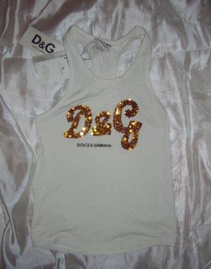 Dolce & Gabbana - Goldpailetten-Muskelshirt in XL! Designerstück! Markenware aus Italien!