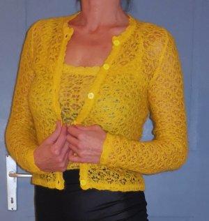 Dolce & Gabbana Blazer en maille tricotée jaune