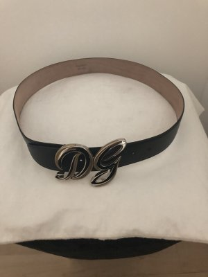 Dolce & Gabbana Leather Belt black-beige