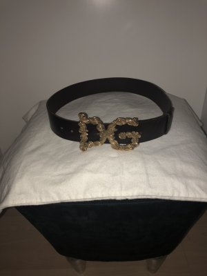 Dolce & Gabbana Leather Belt dark brown