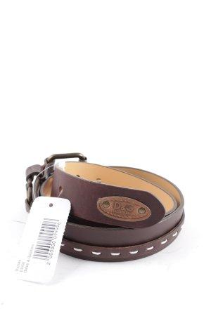 Dolce & Gabbana Riem donkerbruin simpele stijl