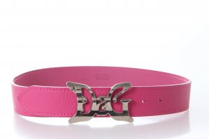 Dolce & Gabbana Hip Belt magenta-silver-colored leather