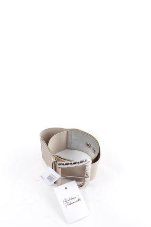 Dolce & Gabbana Gürtel silberfarben-beige extravaganter Stil
