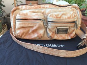 Dolce & Gabbana Bumbag cream-beige leather