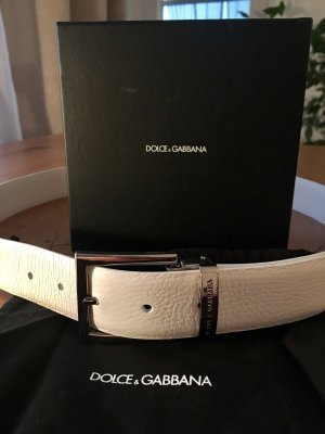 DOLCE & GABBANA Gürtel, Weiß, 95 cm, mit Geschenkbox