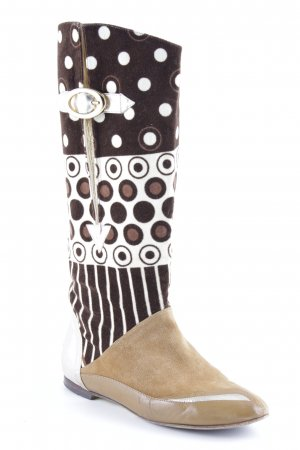 Dolce & Gabbana Buskins mixed pattern extravagant style