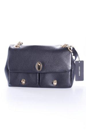 Dolce & Gabbana Handtasche Borsa A Mano Cuoio schwarz