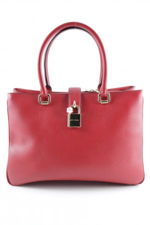"""Dolce & Gabbana Handtasche """"Dolce Calf Leather Shopping Bag Rosso"""""""