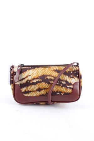 Dolce & Gabbana Handtasche sandbraun-braunrot Materialmix-Look