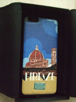 Dolce & Gabbana Mobile Phone Case black leather