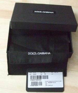 Dolce & Gabbana Étui pour téléphone portable noir cuir