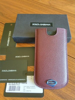 Dolce & Gabbana Mobile Phone Case bordeaux leather