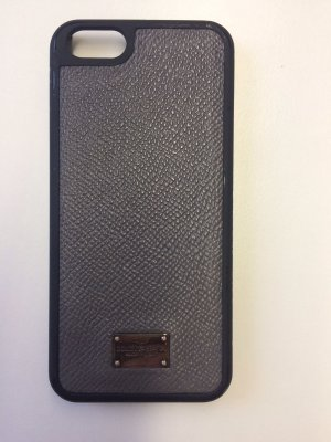 Dolce & Gabbana Mobile Phone Case black-anthracite synthetic material