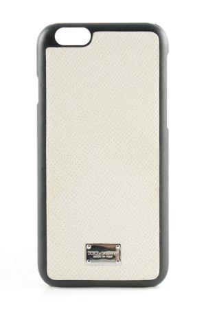 "Dolce & Gabbana Custodia per cellulare ""Phone Case 6G Vitello Stampa Dauphine Avorio"""
