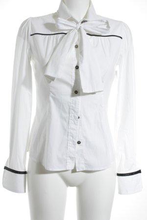 Dolce & Gabbana Hemd-Bluse weiß-schwarz klassischer Stil