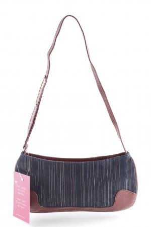 Dolce & Gabbana Carry Bag brown red-dark blue striped pattern vintage products