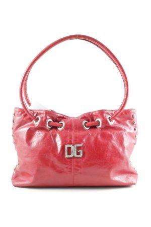 Dolce & Gabbana Borsa con manico rosso scuro effetto opaco