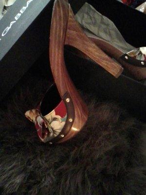 Dolce &Gabbana High Heel Holz Rosenbouquet