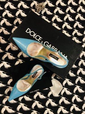 Dolce & Gabbana Escarpin à bride arrière bleu clair-turquoise