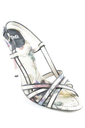 Dolce & Gabbana High Heel Sandaletten florales Muster Elegant