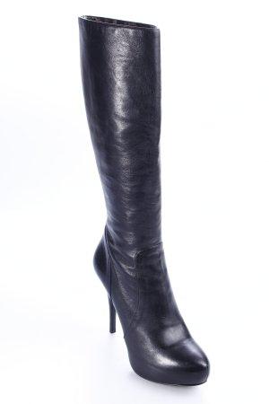 Dolce & Gabbana High Heel Stiefel schwarz-beige Animalmuster extravaganter Stil