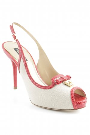 Dolce & Gabbana High Heels beige-rot Party-Look