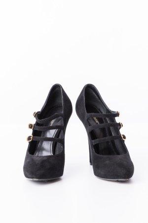 DOLCE & GABBANA - High Heels mit Riemchen Schwarz Leder